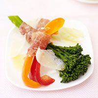 Prosciutto-Wrapped Vegetables with Parmesan | Recipe
