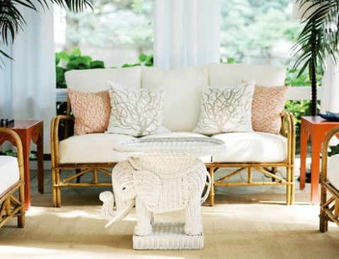 Wicker elephant coffee table living room decor ideas pinterest - Elephant decor for living room ...