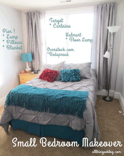 small bedroom makeover post for the home pinterest