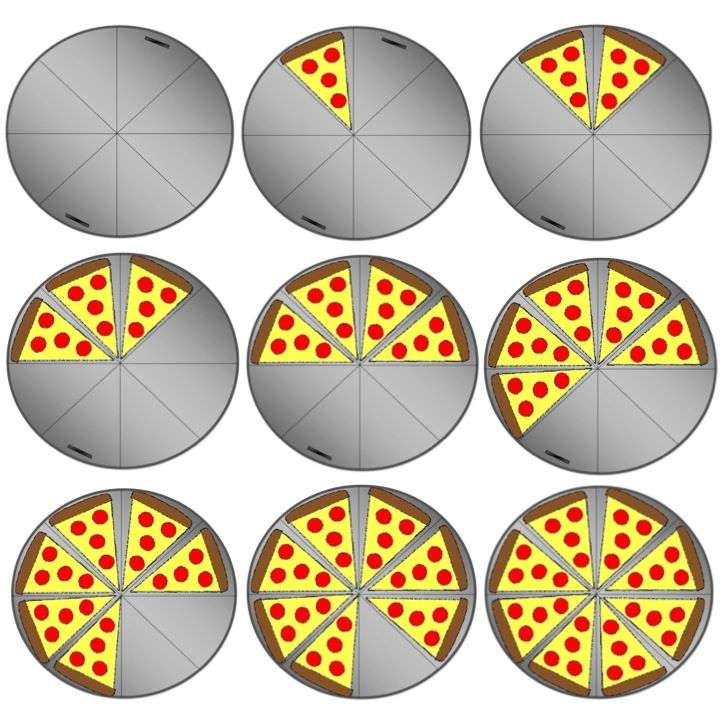 Fraction Pizza Pizza party fractions clipart
