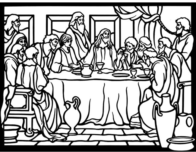 free last supper coloring pages