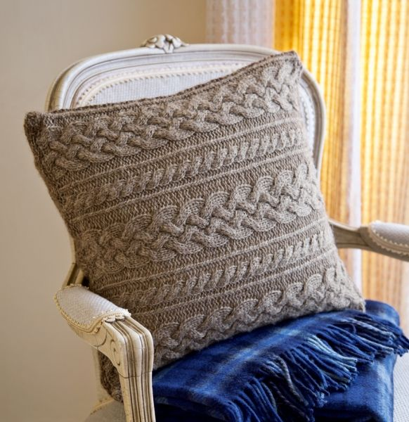 Cable Knit Sweater Pattern Free : Cable cushion pattern Knitting: for home Pinterest