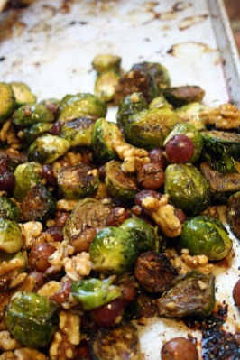 Roasted Brussels Sprouts with Grapes & Walnuts | Make-Meals Mama