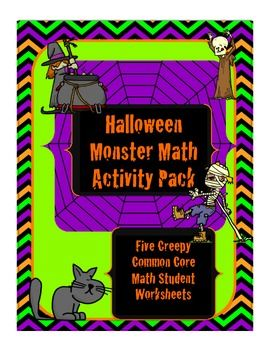 Halloween Monster Math Activity Pack- free