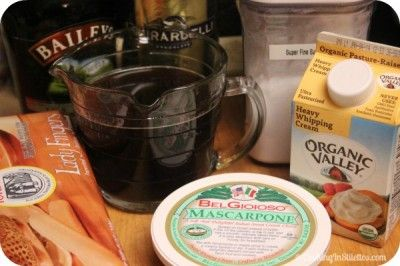 Irish Cream Tiramisu - Ingredients | Cooking In Stilettos
