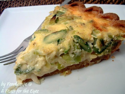 Asparagus, Leek and Gruyere Quiche | Recipes: Main Dishes | Pinterest