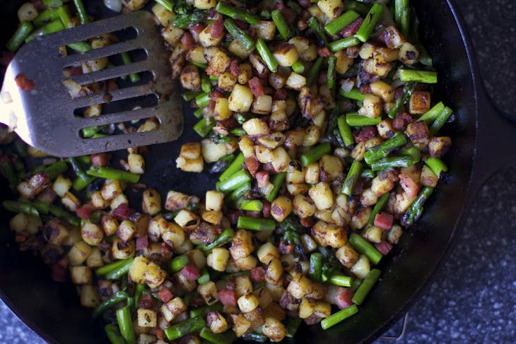 Spring Asparagus Pancetta Hash Recipe replaced pancetta with bacon but ...
