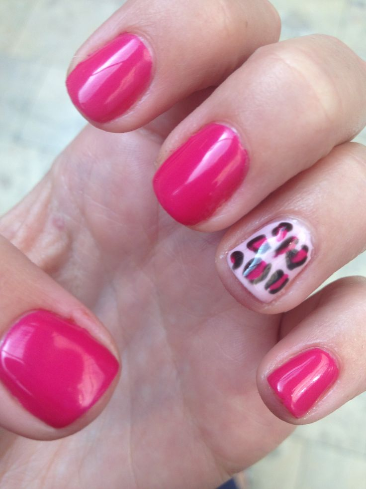 Gel manicure #leopard   Vlads Girl   Pinterest