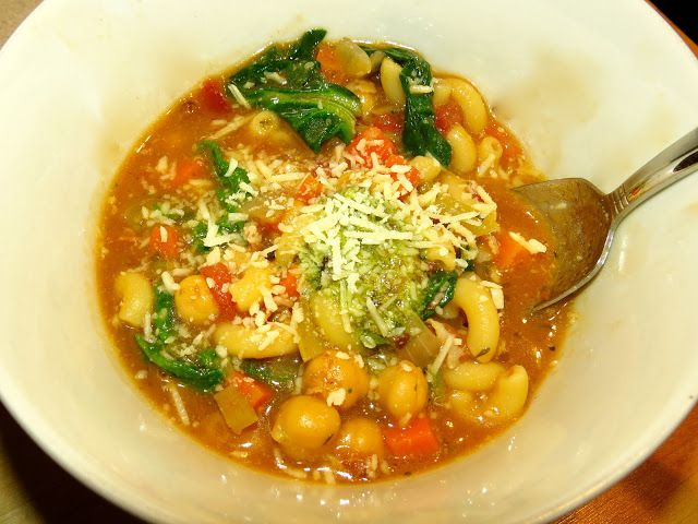 ... Cooking Adventures: Ina Garten's Winter Minestrone & Garlic Brusc...
