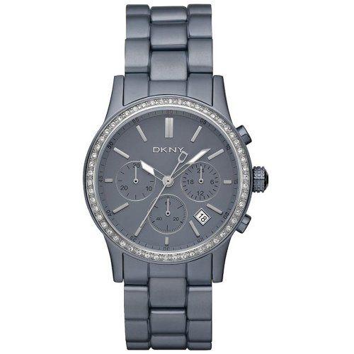 DKNY Chronograph Aluminum Grey Dial Women