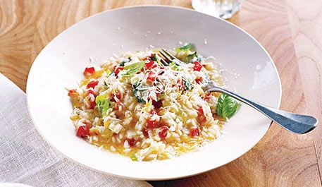 Simple tomato and basil risotto - Simple tomato and basil risotto ...