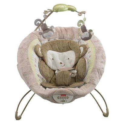 Fisher-Price My Little SnugaMonkey Special Edition Deluxe Bouncer.  Best thing ever