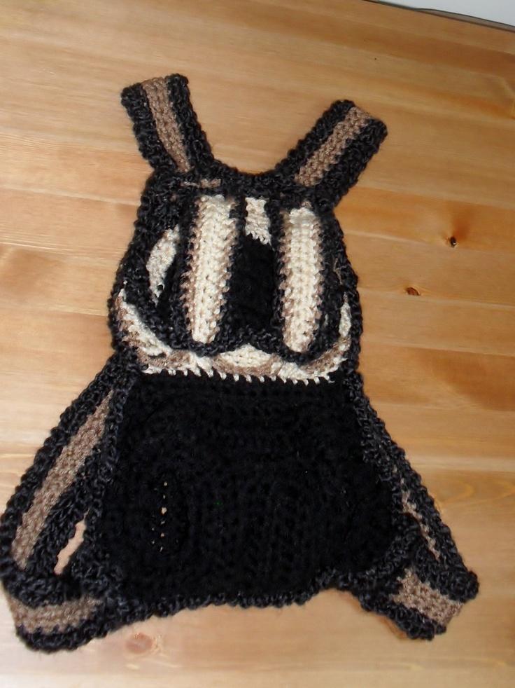 crochet doggie carrier crochet dog things Pinterest