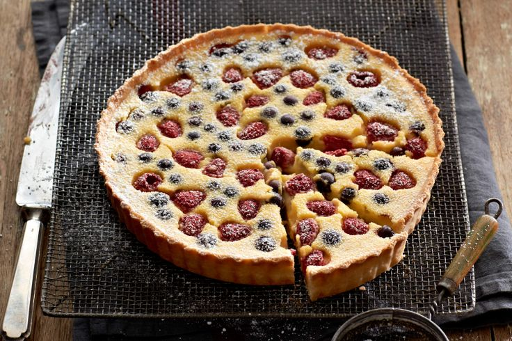 ... dessert with this zesty buttermilk tart and fresh seasonal berries