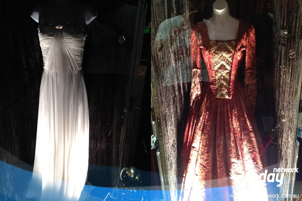 Taylor Swift's costumes revealed during a backstage tour of her Brisbane concert.