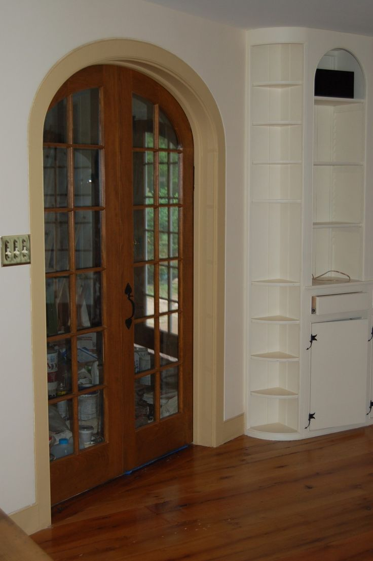 Pin By April Mercado On For The Home Pinterest · Interior French Doors  Transom Carpenters Cabinet ...