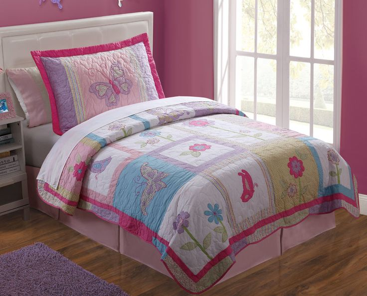 Purple Butterfly Bedding For Girls Pictures to Pin on Pinterest ...
