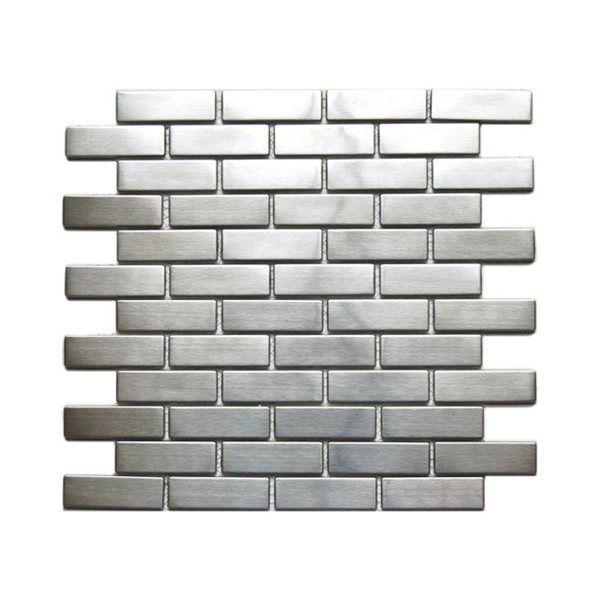 pack large brick pattern mosaic stainless steel tile backsplash lowes