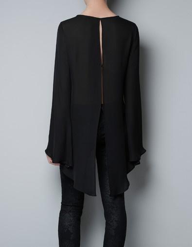 Zara Open Back Blouse 2