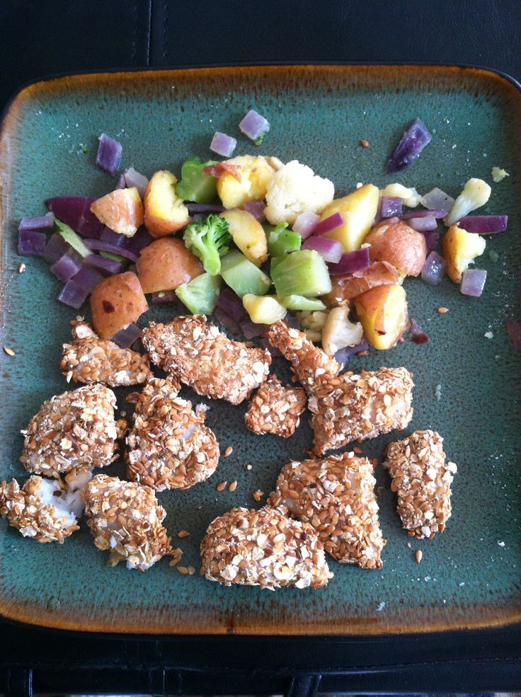 Lazy person 39 s clean eating crusted tilapia flaxseed oats for Shake n bake fish