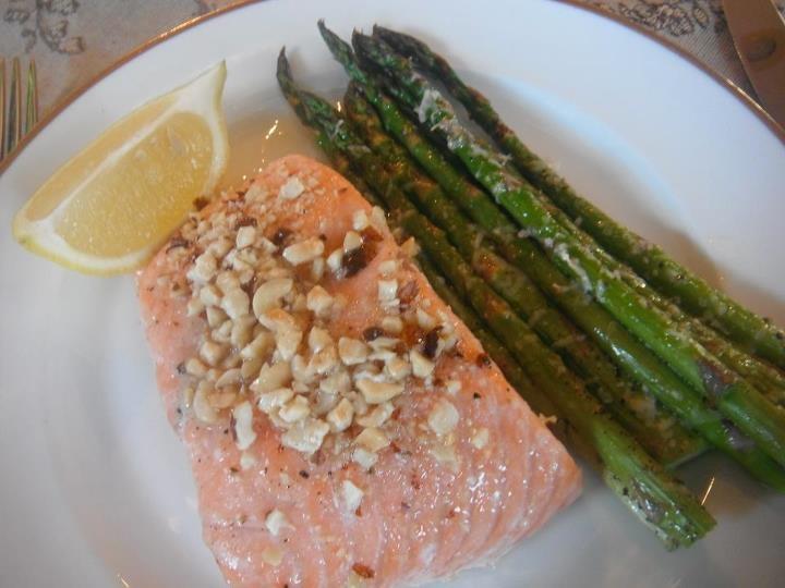 Baked Salmon with Hazelnut Butter Sauce | Menu Planner | Pinterest