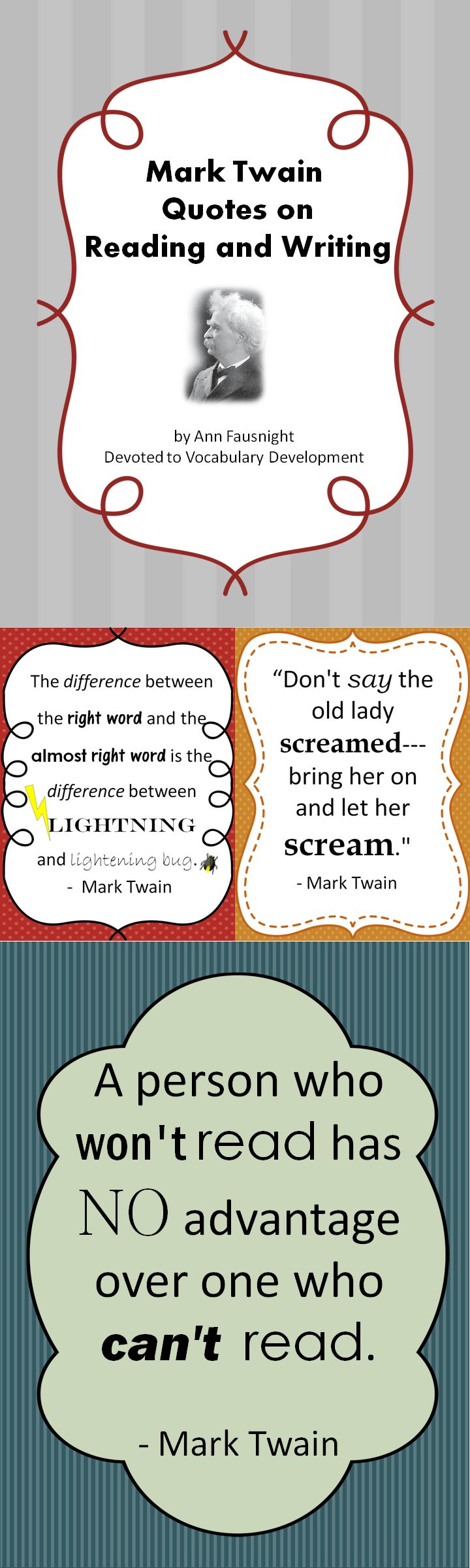 mark twain on writing I conceive that the right way to write a story for boys is to write so that it will not  only interest boys but strongly interest any man who has ever been a boy.