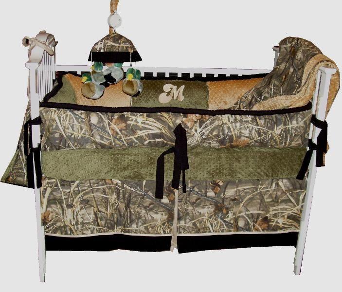 Camo Custom Crib Bedding 4pc Macks Allen Collection