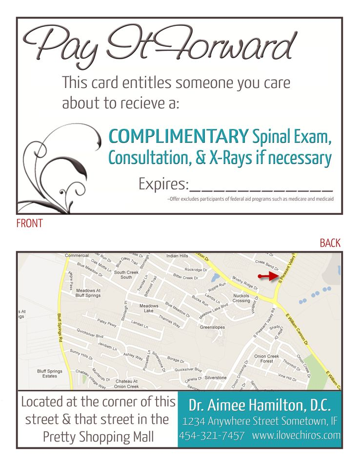 chiropractic referral pad templates .