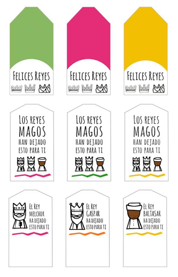 etiquetas para imprimir gratis para los regalos que dejen los reyes magos