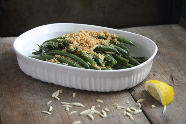 More like this: green beans , almonds and lemons .