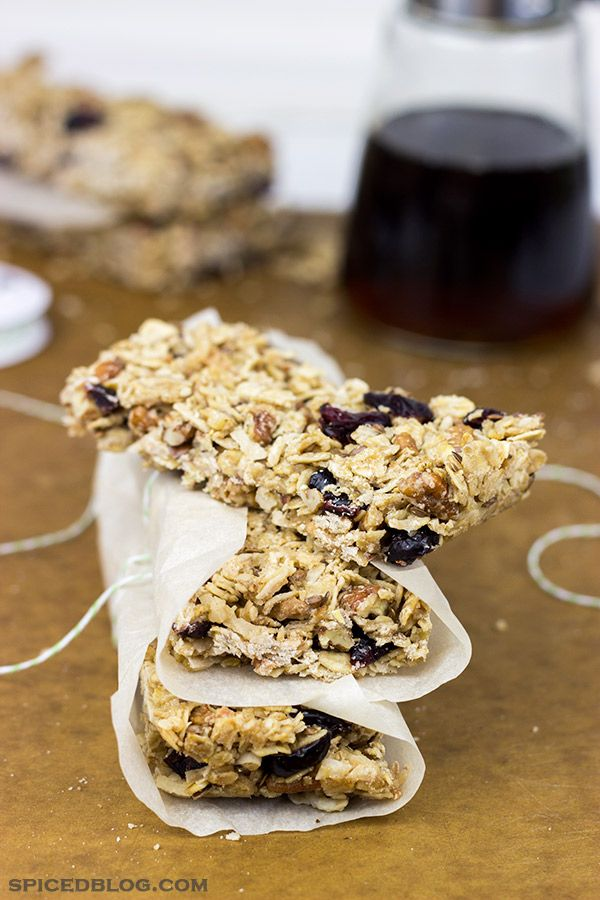 These maple pecan coconut granola bars make an easy and delicious ...