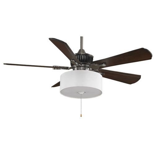 Louvre Pewter 52 Inch Ceiling Fan With Walnut Blades And