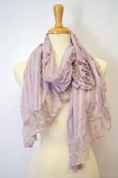 If this scarf isn't the epitome of feminine we don't know what is. The perfect balance between the lovely polka dots and gorgeous lace, makes this scarf a must-have for the spring and summer season. $23.99 Use code PINIT at checkout for 10% off your entire order.