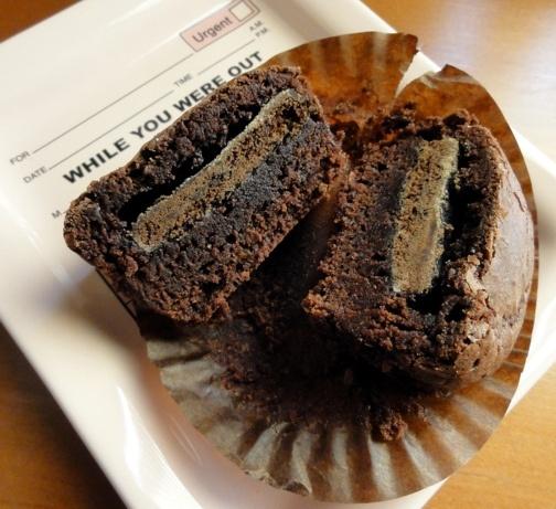Thin Mint Brownie Cupcake   kitchen   Pinterest