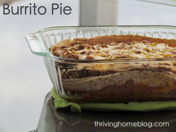 Burrito Pie - A healthier version of a comforting Mexican-style ...