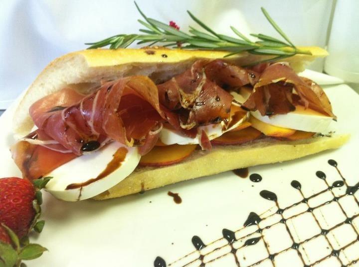 Prosciutto & Mozzarella Sandwich | Food & Drink | Pinterest