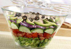 Layered Tex-Mex Salad | Food..baking | Pinterest