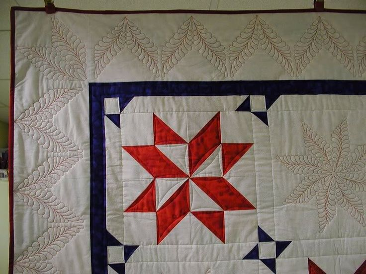 Beautiful border quilting.
