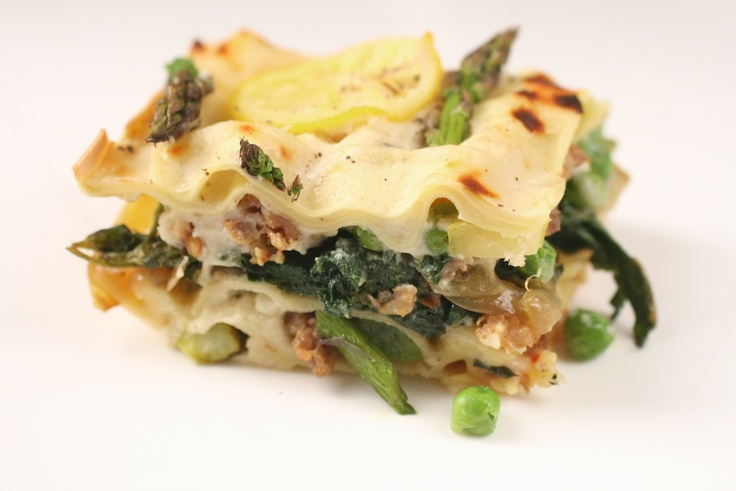 asparagus, sausage, and chard lasagna | CSA ideas | Pinterest