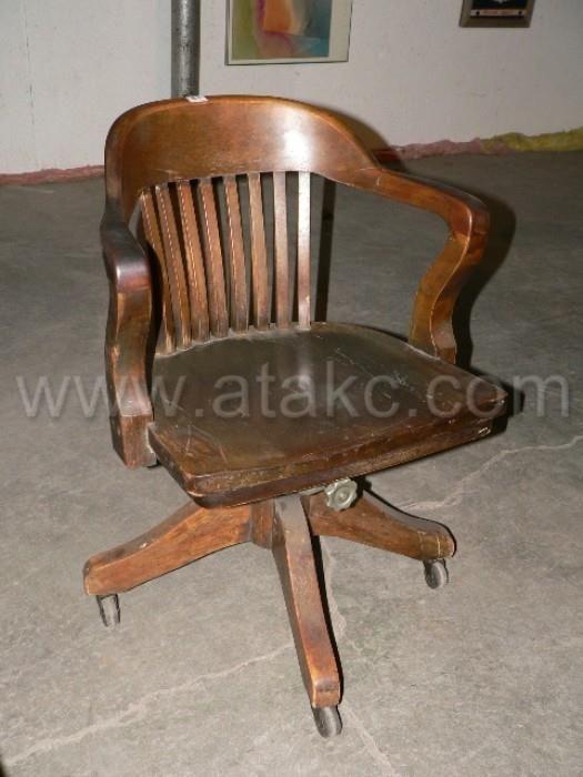 Vintage Wooden Desk Chair Furniture Pinterest