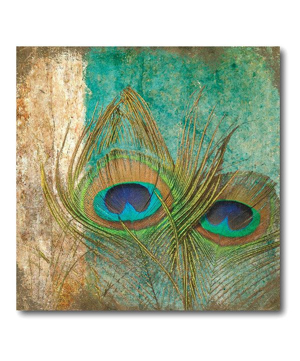 at this Peacock Feather Abstract II Canvas Wall Art on zulily todayAbstract Peacock Wall Art