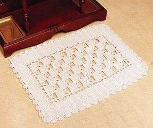 Modelos de Tapetes de Crochê - Fotos