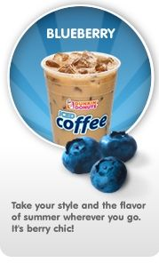 Dunkin' Donuts Blueberry Iced Coffee | COFFEE | Pinterest