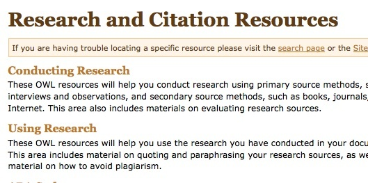 Purdue Online Writing Lab (OWL)