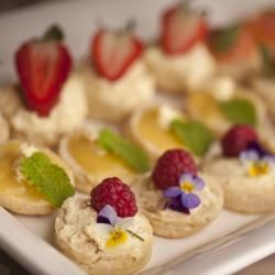 Tea: Lemon and lavender sweet scone canapes for #tea time.