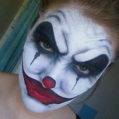 What a wonderful job on face paint. {Scary Clown by Becky Flateau ... Simple Clown Makeup Men