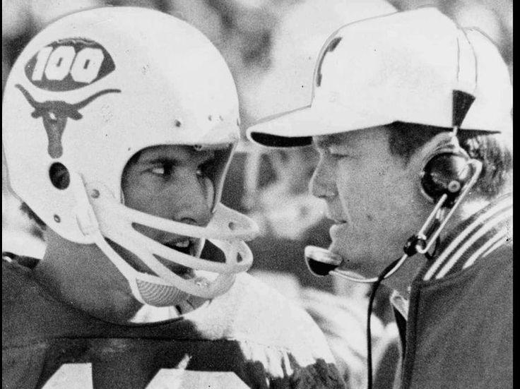 University of Texas football coach Darrell Royal instructs quarterback ...