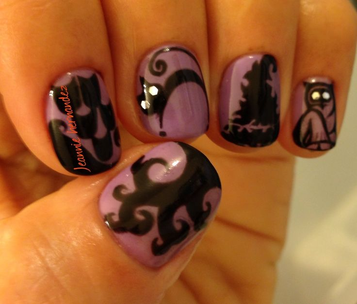 Halloween nail art with shellac | Nails | Pinterest