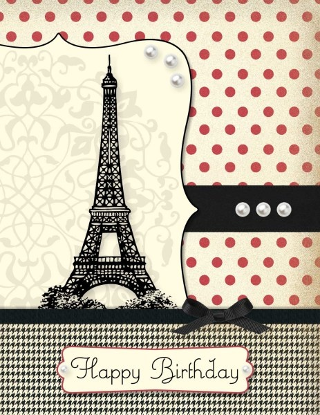 Paris birthday card cards paris cards pinterest