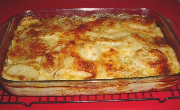 Blue Cheese Mushroom and Onion Potato Gratin Read more at: http://www ...